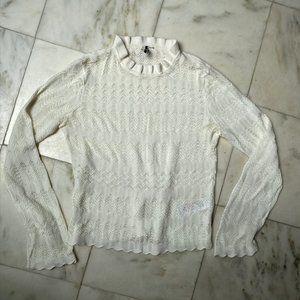 Topshop Openweave Turtleneck Sweater